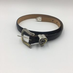 Brighton Belt Silver and Gold Detail With Heart